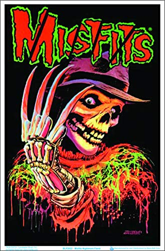 Misfits Nightmare Fiend Blacklight Poster - Flocked - 23' x 35'