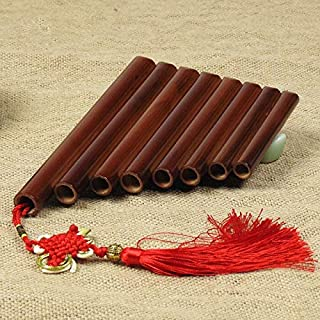 Bamboo 8 Pipes Pan Flute Panpipes Musical Instrument Paternity Aids Xiao (Color : Brown)