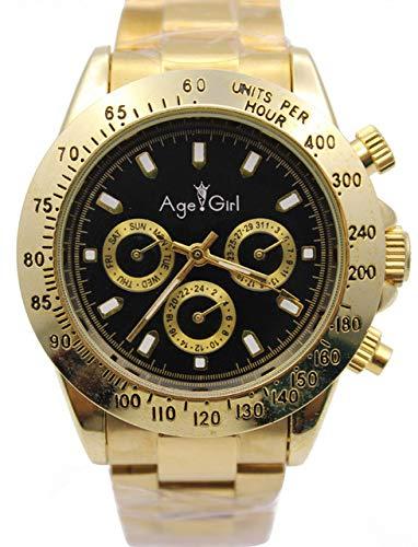 GFDSA Automatische horloges Luxe merk Heren Luxe horloge Automatische mechanische zelfwind Grote zwarte wijzerplaat Goud Roestvrij staal Herenhorloges Zilver Wit