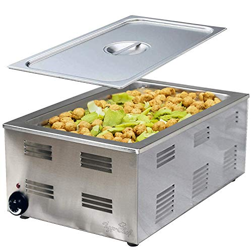 Tiger Chef Food Warmer - Full Size Countertop Food Warmers - Commercial Electric Steam Table for...