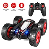 RC Stunt Car Remote Control Car Boat 4WD 6CH 2.4Ghz Off Road Electric Racing Vehicle 360° Spins & Flips Land Water...