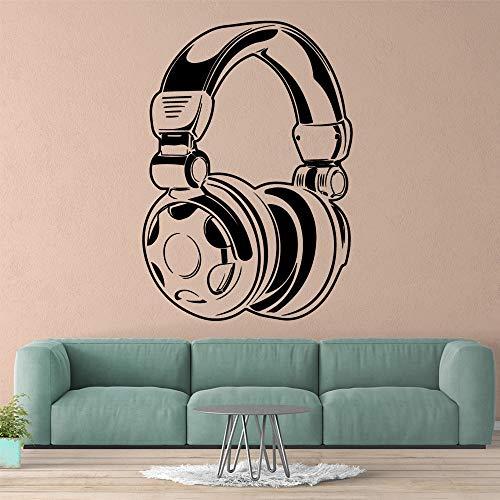 Pegatinas de pared personalizadas para auriculares, calcomanías de arte de pared impermeables autoadhesivas, calcomanías de arte de pared para habitación de niños A7 57x81cm