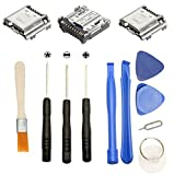 Games&Tech 3 x USB Charging Charger Connector Port Dock + Tools for Samsung Galaxy Tab 4 7.0 SM-T230N SM-T230NU SM-T237P