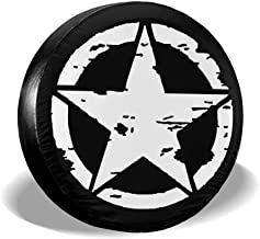 ULNL Oscar Mike Jeep Military Star Spare Wheel Tire Cover Funny Waterproof Tire Protectors Novelty