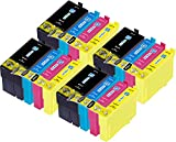 Ink Maxx Paquete de 16 27XXL XL Cartucho de Tinta Compatible para Usar en Lugar de Epson Workforce Pro WF 3620 DWF 7110 DTW 3640DTWF 7610DWF 7620DTWF 7710DWF 7715DWF 7720DTWF T27914010 T27124010