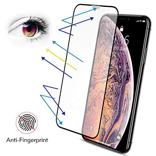 Protector Pantalla iPhone XS X Mate, BENKS Anti-Huella Cristal Templado iPhone XS [Compatible con 3D Touch ] [9H Dureza] [Alta Definicion 0.3mm] Vidrio Templado para Apple iPhone XS X 10, 5,8 pulgada