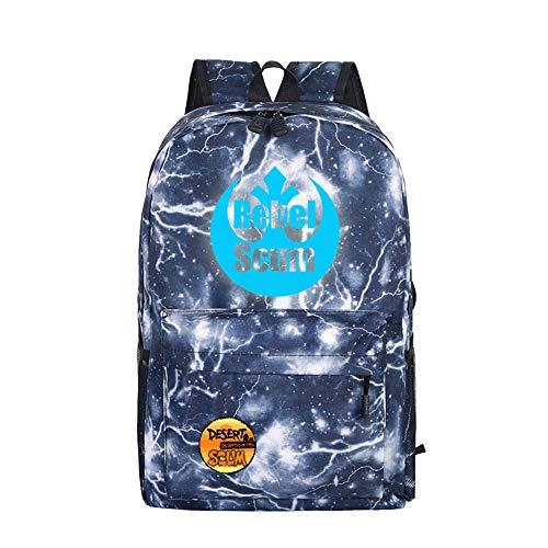 Scum Rucksack, Unisex, Bedruckt, leuchtende Tasche, leicht, modisch, Wandertasche a12 32 X 16 X 46cm