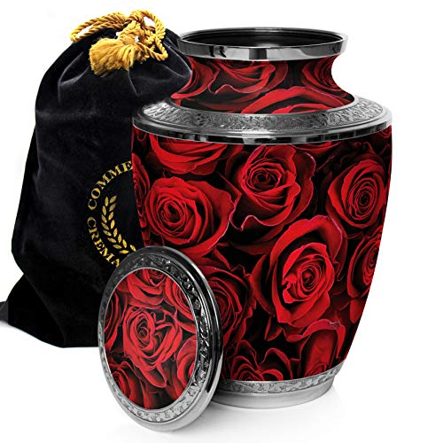Crimson Rose Display Cremation Urn