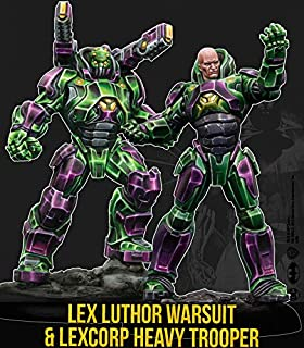 Knight Models Batman Minitaures Juego ~ 35 mm Lex Lutho Armour y Heavy Trooper (Multiverso) Figura Set