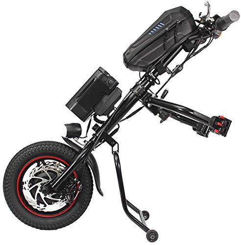 GLJY 2020 Neueste 36V 350W 12-Zoll-Elektrorollstuhl-Traktorbefestigung Handcycle Handbike DIY-Umrüstsätze und 36V 8AH Vientiane Typ Lithium-Ionen-Batterie mit 2A Ladegerät