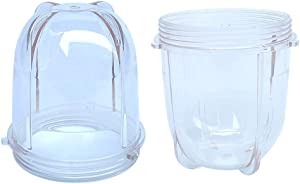 Veterger Replacement Parts Short Cups,Compatible with Original Magic Bullet Blender Juicer MB1001 250W (2 Pack)