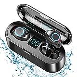 Xnuoyo Auricolari Bluetooth 5.0 Senza Fili Auricolari Stereo in Ear con Custodia da Ricarica, Cuffie Sportivi in-Ear HiFi 8D Stereo Sound Bassi Potenti con Display LCD Touch Control per iOS & Android