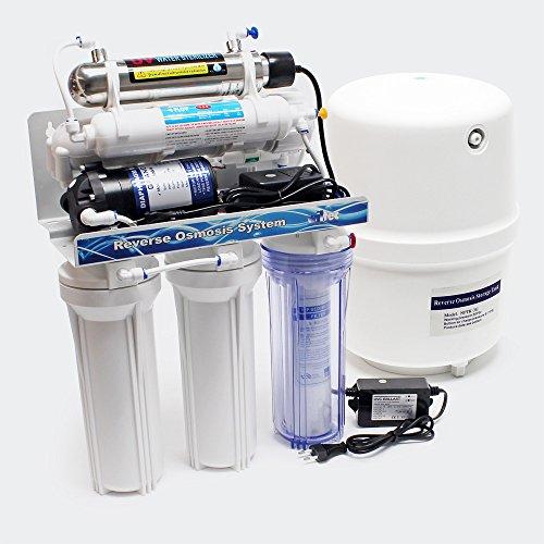 Osmosi inversa a 6 stadi (RO) 180l giorno con lampada UV