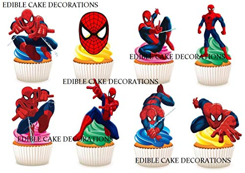 Ediblecakedecorations Kuchendekoration, Spiderman-Party, essbar, 30 Stück