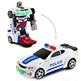 Toytykes Robot Police Car - from Police Car to Robot and Vice Versa - Comes with Lights and Sounds - Bump and Go Action - Great Gift Idea