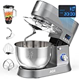 Mixers Kitchen Electric Stand Mixer, ACA 3-IN-1 Stand Mixers, 6.5-Qt 800W 10+P Speed LCD...