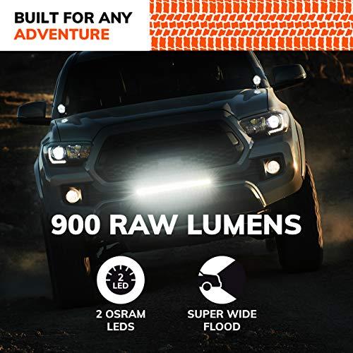 SYLVANIA - Flush Mount 4 Inch LED Light Pod - Lifetime Limited Warranty - Wide Flood Light 900 Raw Lumens, Best Quality Off Road Driving Work Light, Truck, Car, Boat, ATV, UTV, SUV (1 PC)