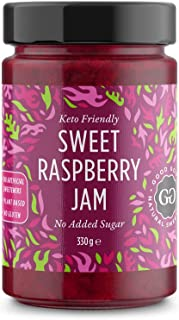 Sweet Raspberry Jam - Keto Friendly - 12 oz / 330 g - No Added Sugar Raspberry - Keto - Vegan - Gluten Free - Diabetic (Ra...
