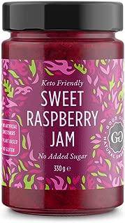 Sweet Raspberry Jam - Keto Friendly - 12 oz / 330 g - No Added Sugar Raspberry - Keto - Vegan - Gluten Free - Diabetic (Raspberry)