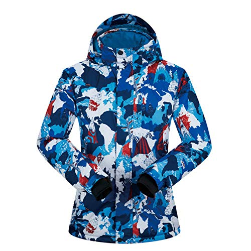 JSGJHXFSki Skipak voor dames, winter XUEREN winddicht, waterdicht, ademend, warmtemantel, sneeuw, kleding, skiën en snowboarden jas, merk