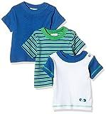 Twins 1 127 32 T-Shirt, Multicolore (Weiss/Marine), 2-3 mesi/62 cm, Pacco da 3