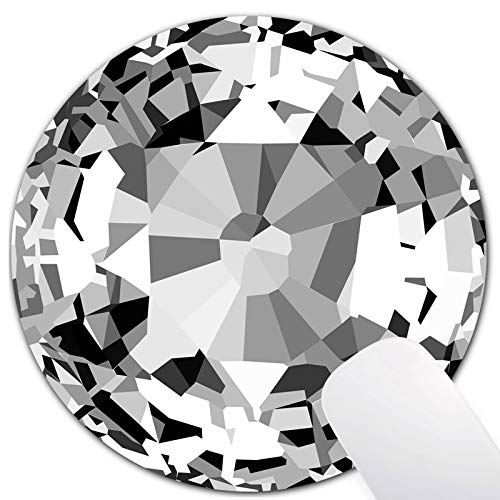Cool Diamond Mouse Pad for Laptop,Grey and White Mouse Pads,Office Mouse Pad,Modern Mouse Pad for Computers, Laptop, Office & Home,…