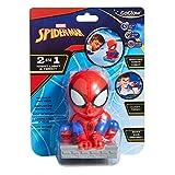 Spider Man GoGlow-Kumpel: Nachtlicht und Taschenlampe, Plastik, Rot, 9 x 7.5 x 12.5 cm, 4 Einheiten