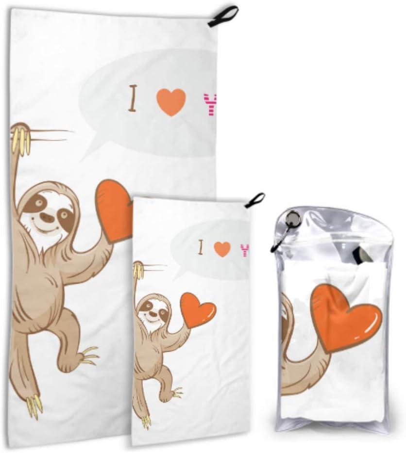 AIKENING Lovely Popular brand Cartoon Sloth 2 Department store Towel Swim Microfiber Beach Pack