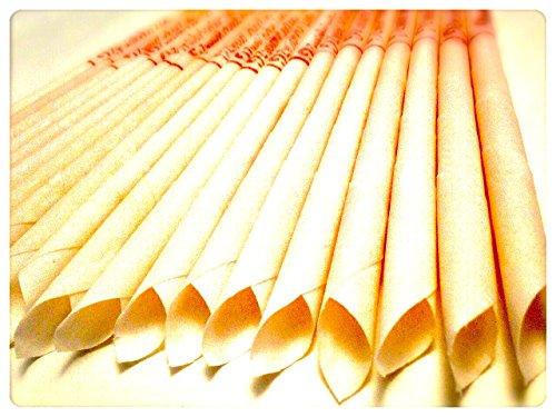 30 KONISCHE OHRKERZEN ZweiohrkerZen aus Bienenwachs hergestellt mit Trägermaterial Baumwolle (15 Paar) mit Abbrennmarkierung und Filter - Geruch neutral - HOPI Candle