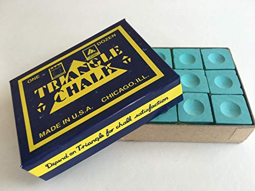 Triangle TRIANGLE Pool & Snooker Table Cue Chalk GREEN 12 Cubes