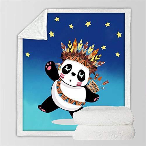 XMYNB Decke Bettwäsche Export Panda Decke Karikaturtierplüschdecke Bärenkinder Plüschdecke Panda Bettdecke,E,75Cmx100Cm