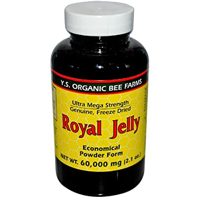 100% Pure Freeze Dried Fresh Royal Jelly - 60,000 mg YS Eco Bee Farms 2.1 oz Pow
