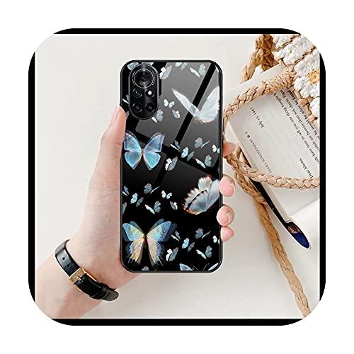 Linda mariposa claro teléfono caso para Huawei Honor 20 10 9 8A 7 5T X Pro Lite 5G negro Etui coque hoesjes cómic Fash-12-Honor 9