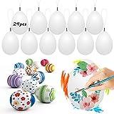 Wishstar Huevos de Pascua, 24 Piezas Huevos de Pascua para Pintar, Huevos de Plastico...