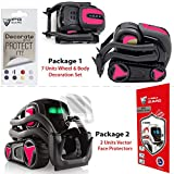 IPG for Vector Robot Face Screen Guard Decoration KIT Protector from Unexpected Attacks of Kids and Pets.Include Wheels&Body Set 7 Units Decals+2 Units Screen Protector (Pink (Gloss))