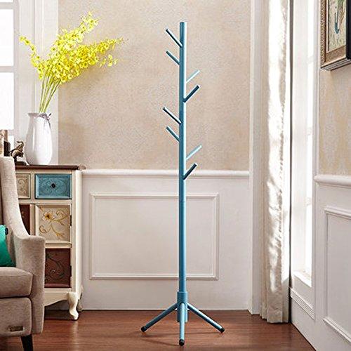 WLH- Alle Planken Eenvoudige Nordic Vertical Floor Kapstok Simple Modern Bedroom Single Rod Room Hanger (Color : Green)