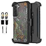 6goodeals for Samsung Galaxy S21 S30 Built in Screen Protector Belt Clip Case (2021) Protective Heavy Duty Holster Phone Case (Accessories Pack) (Camo)