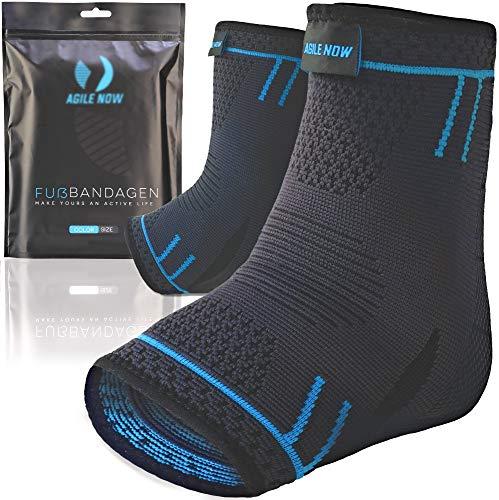 AGILE NOW Fußbandage [2er Set] Sprunggelenkbandage Fußgelenkbandage Knöchelbandage Bandage Sprunggelenk (M)