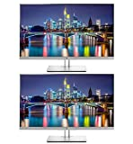 HP EliteDisplay E273q 27 Inch LED Backlit Monitor 2-Pack, WQHD 2560 x 1440 (1FH52A8#ABA)