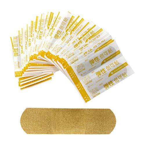 MAICOLA 100pcs Flexible Tela Vendajes Adhesivos para el Cuidado de heridas y Primeros Auxilios médicos tirita Transpirable Vendaje Adhesivo Hemostasia tirita