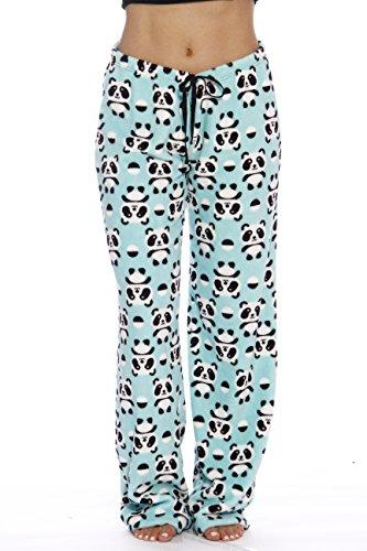 Just Love Women's Plush Pajama Pants, X-Small, Panda Jam