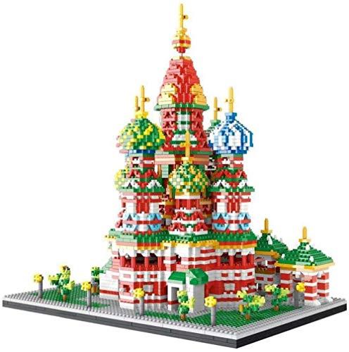 SLL Juguetes Nano Mini Kits Building Blocks, 4560 Pcs Vasile Catedral Modelo Building Block Regalos de construcción de Juguete niños Educación de Bricolaje decoración del hogar Recuerdos