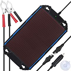 [Charge Anywhere] Transfer sunshine into electricity, charge and maintain your 12 volt battery in all seasons. The most advanced MPPT(Maximum Power Point Tracking) chip intelligently manage charging and fully protect battery. US PATENT PENDING! [Inte...