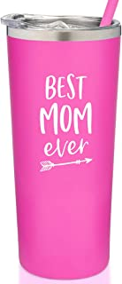 SassyCups Best Mom Ever Tumbler | Engraved Stainless Steel Tumbler with Straw | New Mom Travel Mug | Worlds Best Mom Tumbl...