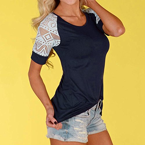 Women's Tee,Neartime Summer Blouse Thin Casual Tops Lace T-Shirt Hot Sale! (M) Photo #7