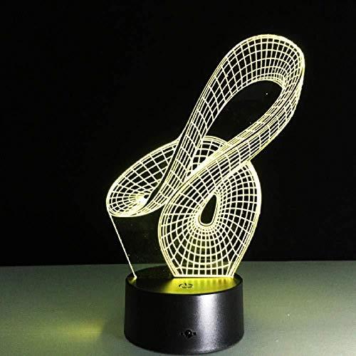 Abstracto geométrico artístico 3D LED USB lámpara creativo artístico moda noche luz diseño de moda decoración del hogar bombilla