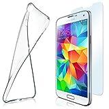 moex Aero Case mit Panzerglas für Samsung Galaxy S5 Mini - Hülle mit Schutzfolie, transparent - Crystal Clear