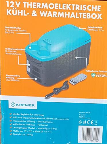 KREMER 12V Termoeléctrica Refrigeradores & Caja Termo Vehículo Enfriador