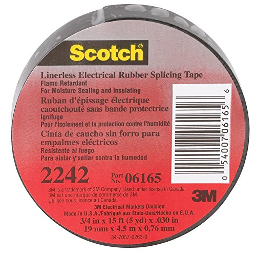 3M 6165-Ba-10 Scotch 3/4-Inch X 15-Ft. Medium-Grade Linerless Splicing Tape - Quantity 10 Electrical Tape & Shrink Tubing -