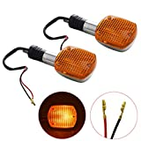 WFLNHB 2 PCS Motorcycle Turn Signals Blinker Light Replacement for Honda Shadow VTX Steed Rebel Magna 250 400 750
